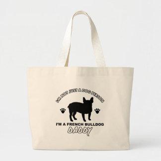 Papá del perro del dogo francés bolsas de mano