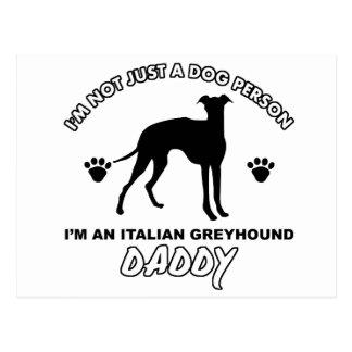 Papá del perro del galgo italiano postales