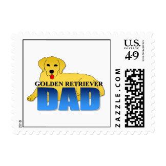 Papá del perro del golden retriever sello