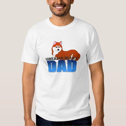 Papá del perro del husky siberiano poleras