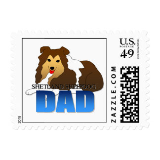 Papá del perro del perro pastor de Shetland Sellos