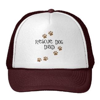 Papá del perro del rescate gorras de camionero