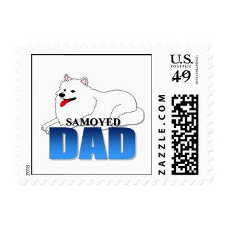 Papá del perro del samoyedo sellos