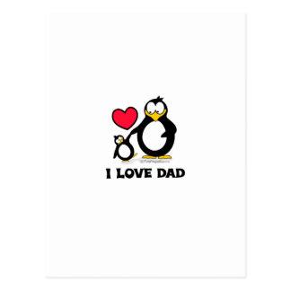 Papá del pingüino postales
