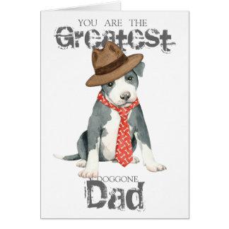 Papá del pitbull tarjeta de felicitación