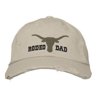 Papá del rodeo gorra bordada