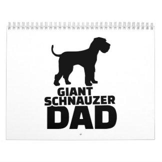 Papá del Schnauzer gigante Calendarios