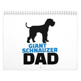 Papá del Schnauzer gigante Calendario De Pared