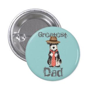 Papá del Schnauzer miniatura Pin Redondo De 1 Pulgada