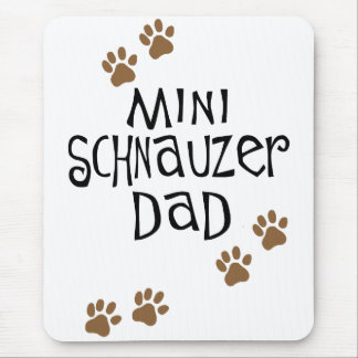 Papá del Schnauzer miniatura Tapete De Ratón