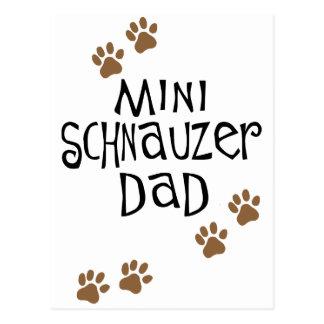 Papá del Schnauzer miniatura Tarjeta Postal