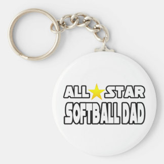 Papá del softball de All Star Llaveros