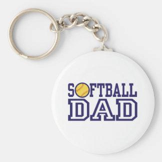 Papá del softball llaveros