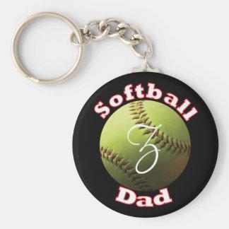 Papá del softball llavero