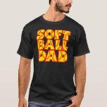 Papá del softball, red&yellow de neón playera
