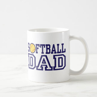 Papá del softball tazas de café