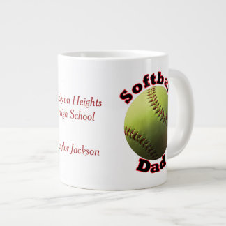 Papá del softball tazas jumbo