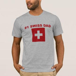 Papá del suizo #1 playera