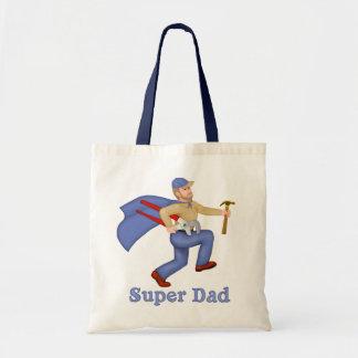 Papá del superhéroe bolsas de mano