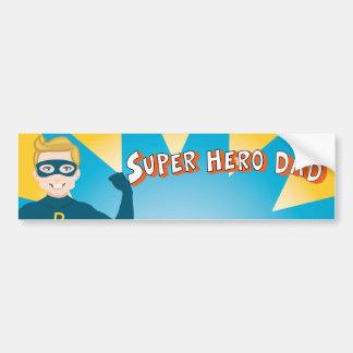 Papá del superhéroe etiqueta de parachoque