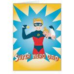 Papá del superhéroe tarjeta