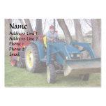 Papá del tractor tarjetas de visita grandes