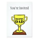 Papá del trofeo invitación 12,7 x 17,8 cm