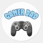 Papá del videojugador - regulador pegatina redonda