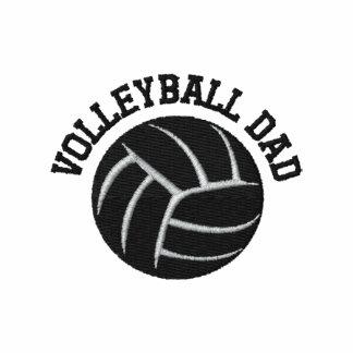 Papá del voleibol camiseta polo bordada