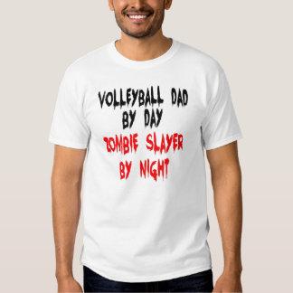 Papá del voleibol del asesino del zombi polera