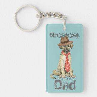 Papá del Wolfhound irlandés Llavero Rectangular Acrílico A Doble Cara