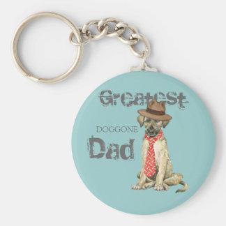 Papá del Wolfhound irlandés Llavero Redondo Tipo Pin