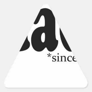 Papá desde 2013 Tshirt.png Pegatina De Triangulo Personalizadas