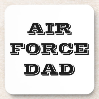 Papá determinado de la fuerza aérea del práctico d posavasos