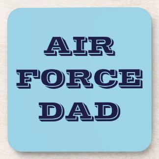 Papá determinado de la fuerza aérea del práctico d posavasos de bebida