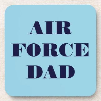 Papá determinado de la fuerza aérea del práctico d posavasos de bebidas