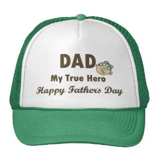 Papá el mi día de padre feliz del héroe verdadero gorro