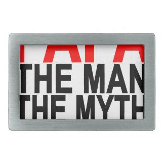 papá el mito el hombre la leyenda hebilla cinturón rectangular