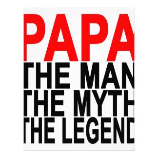papá el mito el hombre la leyenda membrete