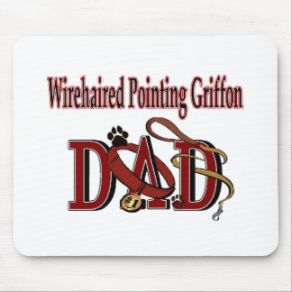 Papá el señalar Griffon Wirehaired Mousepads