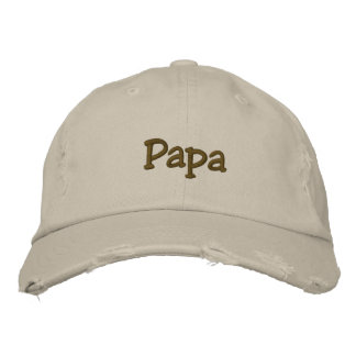 Papa Embroidered Cap