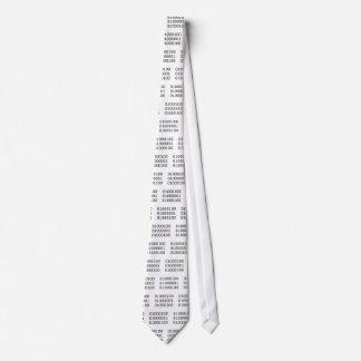 Papá en binario corbata personalizada