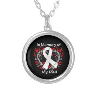 Papá - en corazón del cáncer de pulmón de la memor colgante redondo