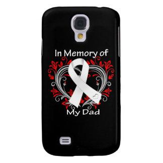 Papá - en corazón del cáncer de pulmón de la memor funda para galaxy s4