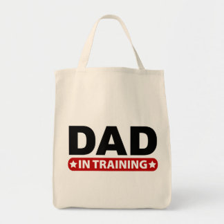 Papá en el entrenamiento bolsa tela para la compra