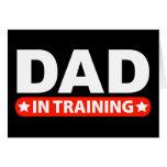 Papá en el entrenamiento tarjeta