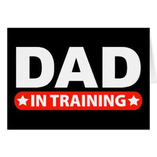 Papá en el entrenamiento tarjeta de felicitación