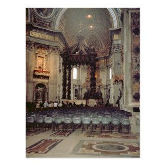 Papa en la galería tarjetas postales