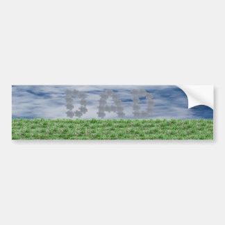Papá en las nubes pegatina para auto