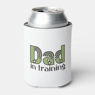 Papá en neverita de bebidas de la tipografía del enfriador de latas